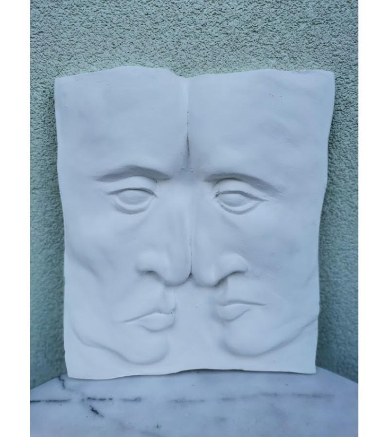 Bareljefas gipsinis Du veidai. Nicole Vider. Kaina 63