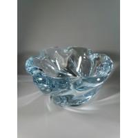 Vaza storo presuoto stiklo, Mid-century modern stiliaus. Autorinė. Svoris 2,6 kg. Kaina 52