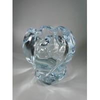 Vaza storo presuoto stiklo, Mid-century modern stiliaus. Autorinė. Svoris 2 kg. Kaina 51
