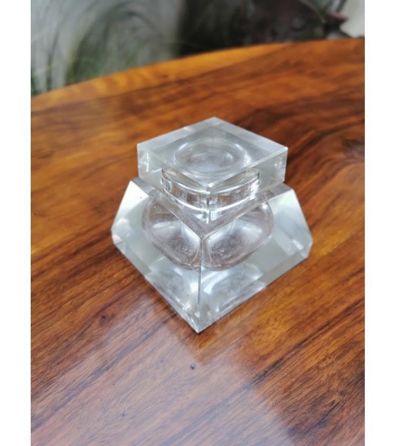 Rašalinė antikvarinė, stiklinė, Art Deco stiliaus. Kaina 23