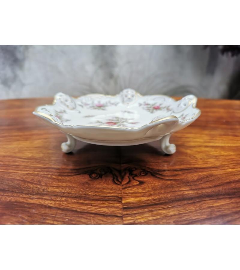 Lėkštutė ant kojelių porcelianinė, antikvarinė Rosenthal Germany Moliere. Kaina 28