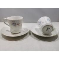 Puodeliai su lėkštutėmis porcelianiniai, antikvariniai. C.T. (Carl Tielsch, 1875-1900 m.). Talpa 120 ml. 5 vnt. Kaina po 8