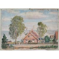 Paveiksas Pajūrio peizažas. Drobė, kartonas, aliejus. Autorius galimai Sigitas Švirmickas (1924-1996 m.). Kaina 87