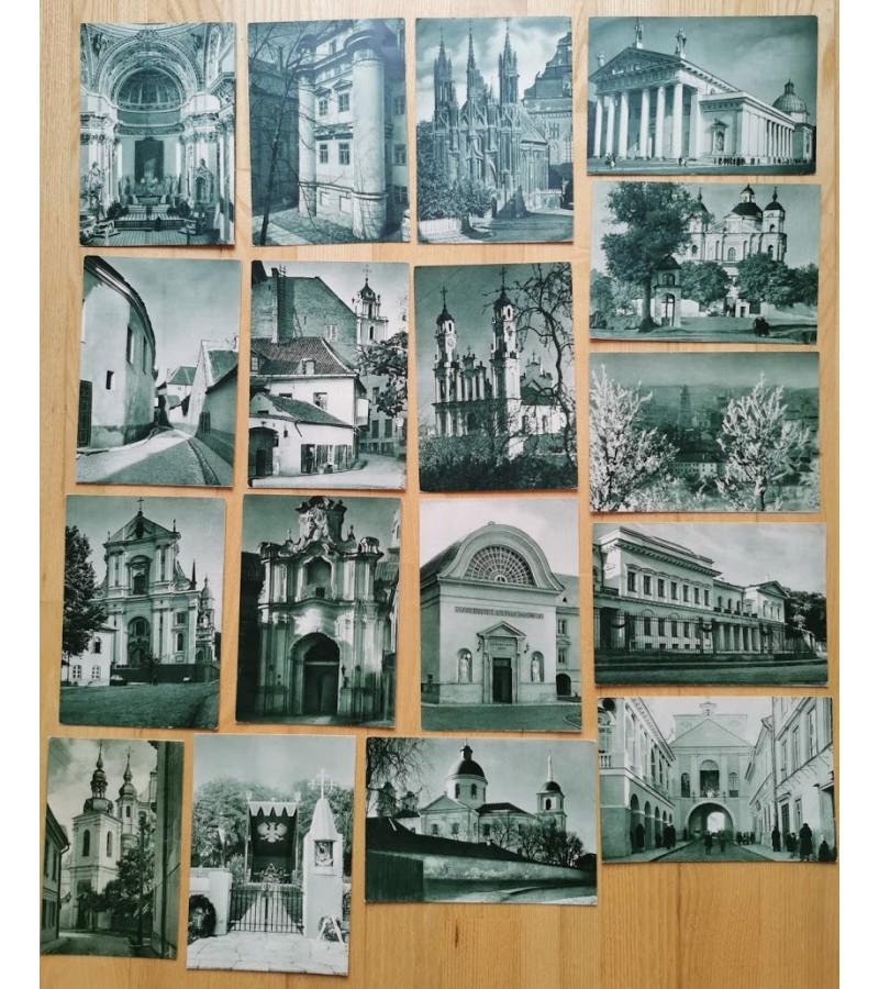 Atvirukai antikvariniai Fot. Jan Bulhak, Wino. Kaina po 28