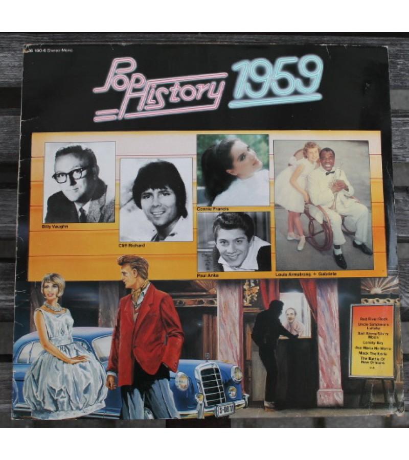 "Plokštelės vinilo 13 vnt. POP HISTORY. POP ISTORIJA 1959-1984 (26 LP), Various, LP vinilo 12 ""plokštelės. Kaina 127 už visas."