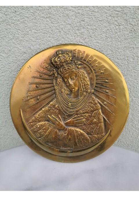 Bareljefas bronzinis Šv. Marijos. Kaina 38