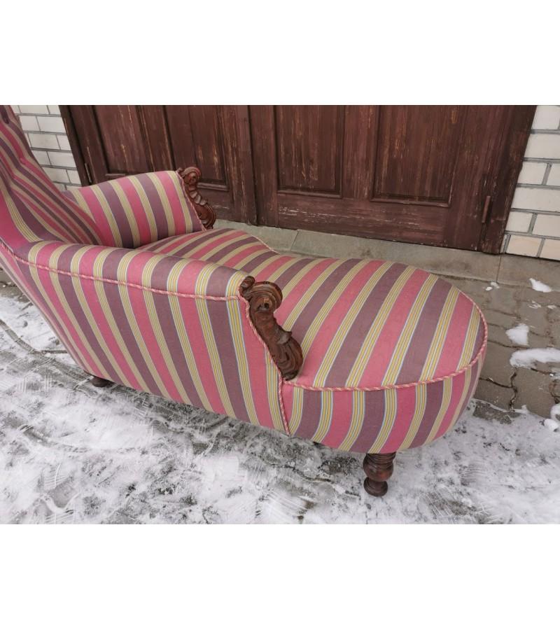 Kanapa, minkštasuolis, sofa antikvarinė, XIXa. pr. Kaina 427
