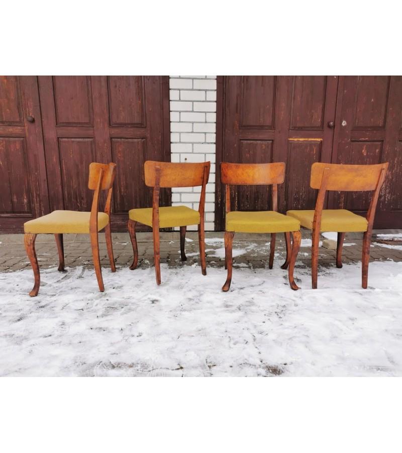Kėdės Art Deco stiliaus. Tvirtos. 4 vnt. Kaina po 33