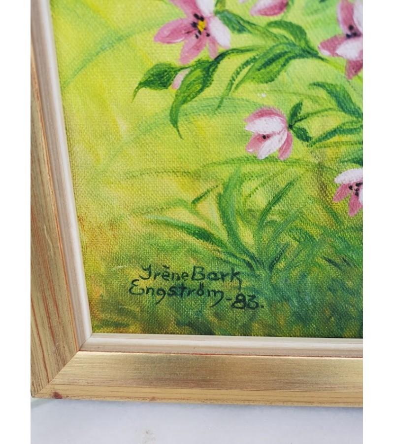 Paveikslas Gėlės. Aliejinė tapyba. Drobė, aliejus. Kaina 23