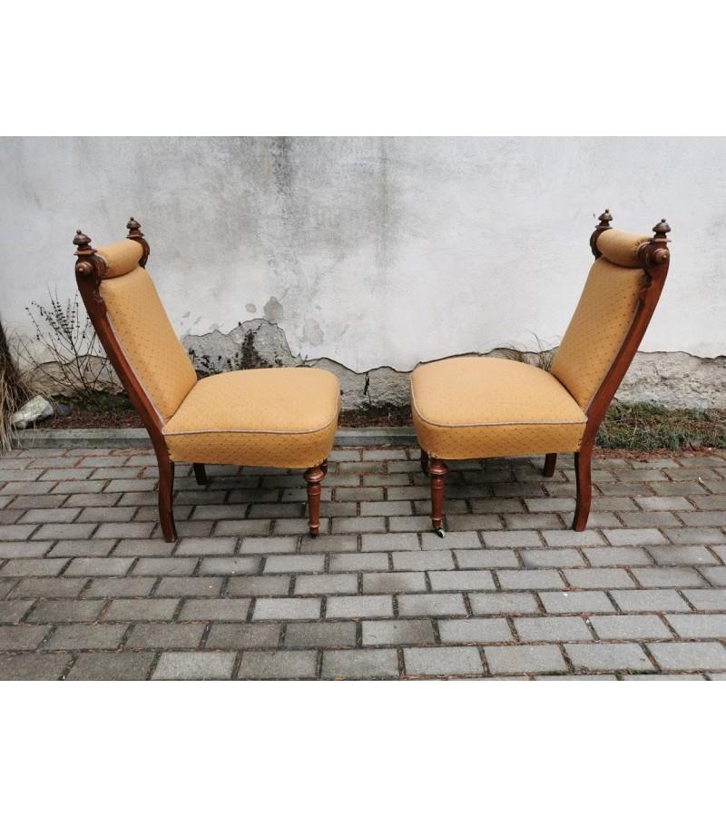 Foteliai  - krėslai antikvariniai, 1890 m., restauruoti. 2 vnt. Kaina po 132