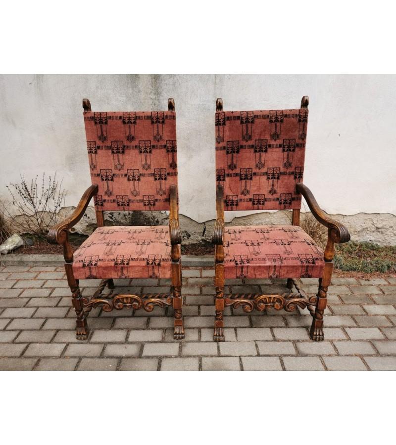 Foteliai, krėslai dideli, antikvariniai. 2 vnt. Kaina po 157