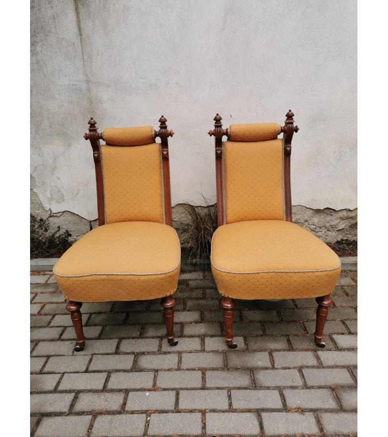 Foteliai antikvariniai, 1890 m., restauruoti. 2 vnt. Kaina po 132