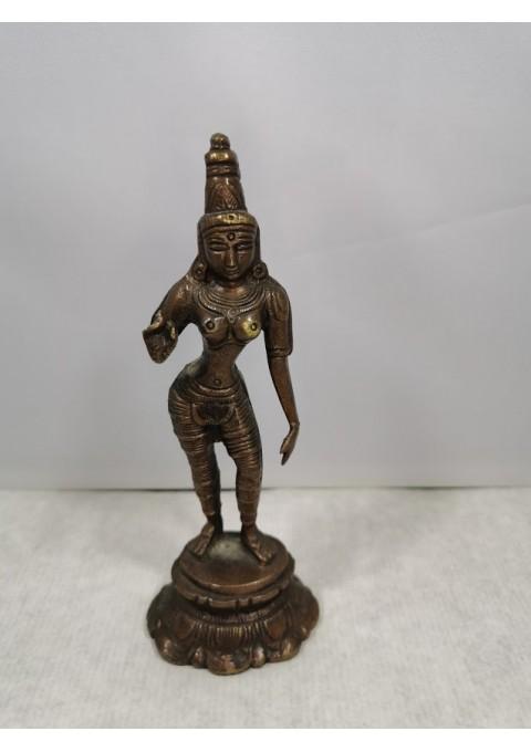 Statulėlė indiška, bronzinė. Kaina 32