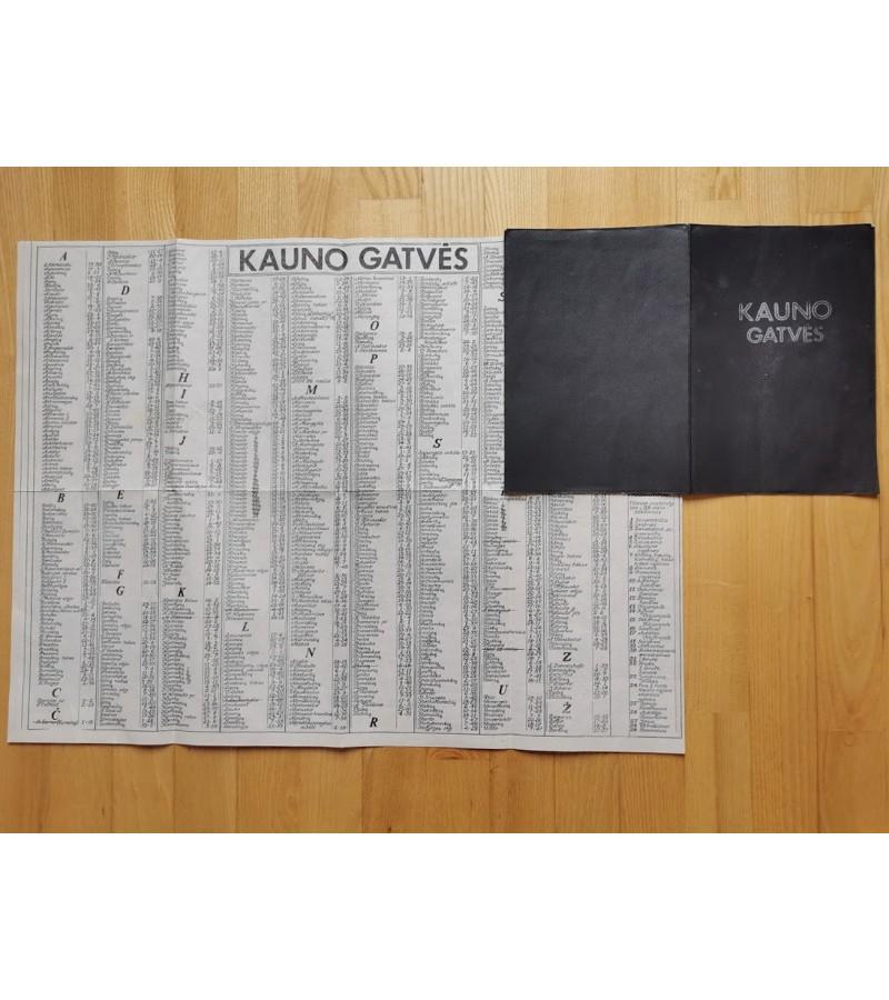 Žemėlapis Kauno gatvės. 1988-1990 m. Kaina 8