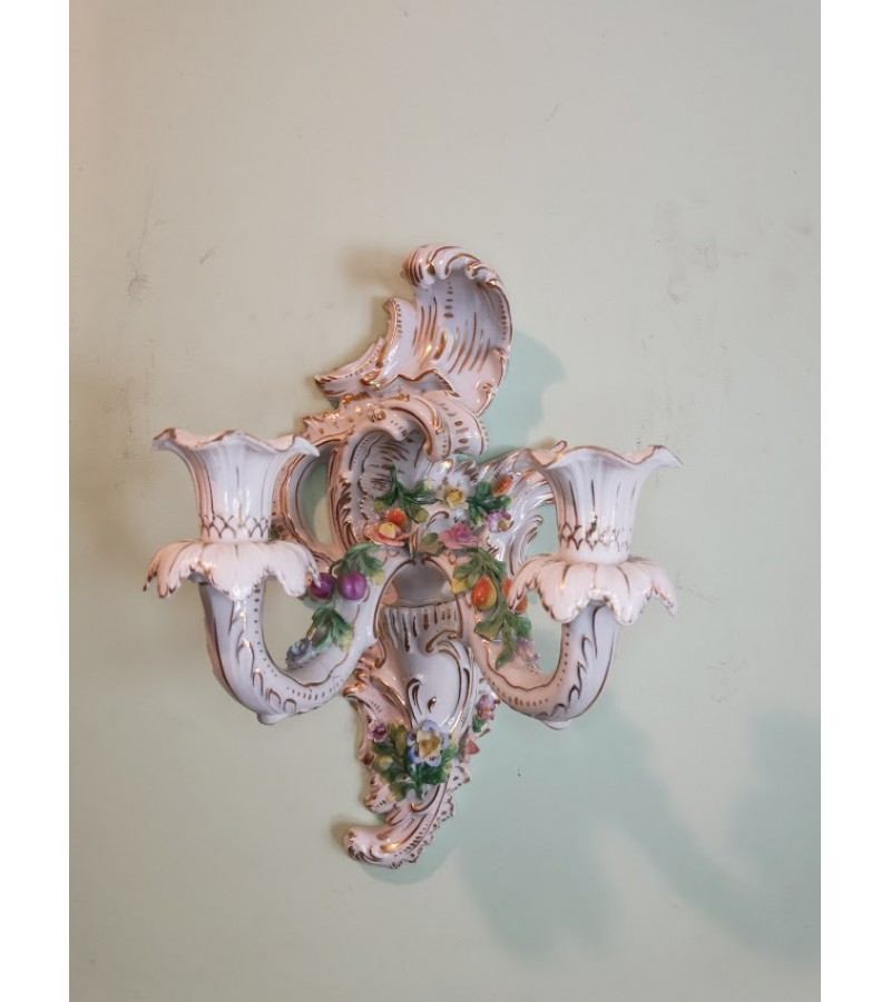 Žvakidė porcelianinė, antikvarinė Dresden. Kaina 83