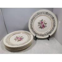 Lėkštės porcelianinės antikvarinės. Johnson Bros. Made in England. 6 vnt. Kaina 43 už visas.
