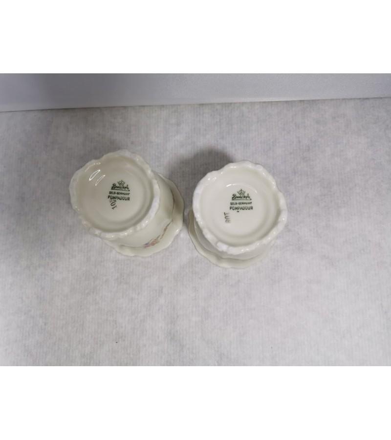 Indai porcelianiniai, antikvariniai Rosenthal Selb-Germany Pompadour. 2 vnt. Kaina po 18