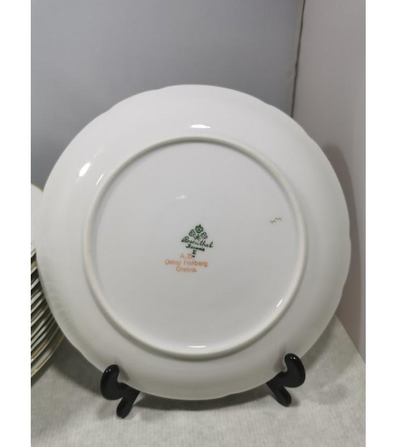 Lėkštės porcelianinės tarpukario, antikvarinės. Rosenthal Bavaria. 1919-1935 m. 12 vnt. Kaina po 12