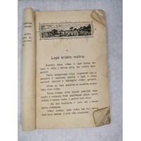 Pasakų knyga lietuviška, tarpukario laikų su iliustracijomis. Trūksta viršelio. Kaina 12