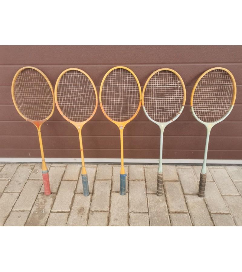 Raketės badmintono medinės, tarybinių laikų. Kaina 12 už visas.