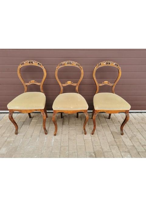 Kėdės antikvarinės, tvirtos. 3 vnt. Kaina po 33