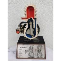 Modelis demonstracinis dvitakčio variklio. 1960-1970 m. Höhm Deutschland. Made in Germany. Kaina 127
