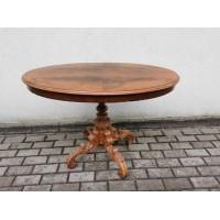 Stalas antikvarinis, ovalus, medžio masyvo. Kaina 83