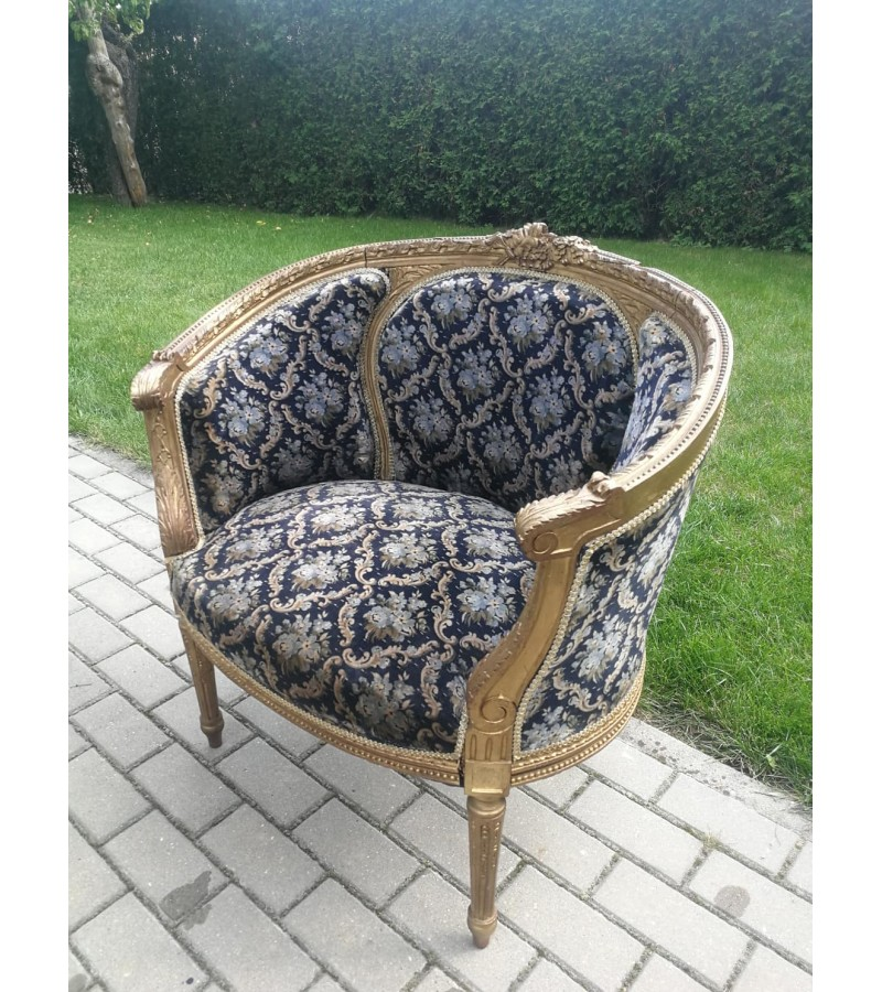 Fotelis antikvarinis, restauruotas. Kaina 107