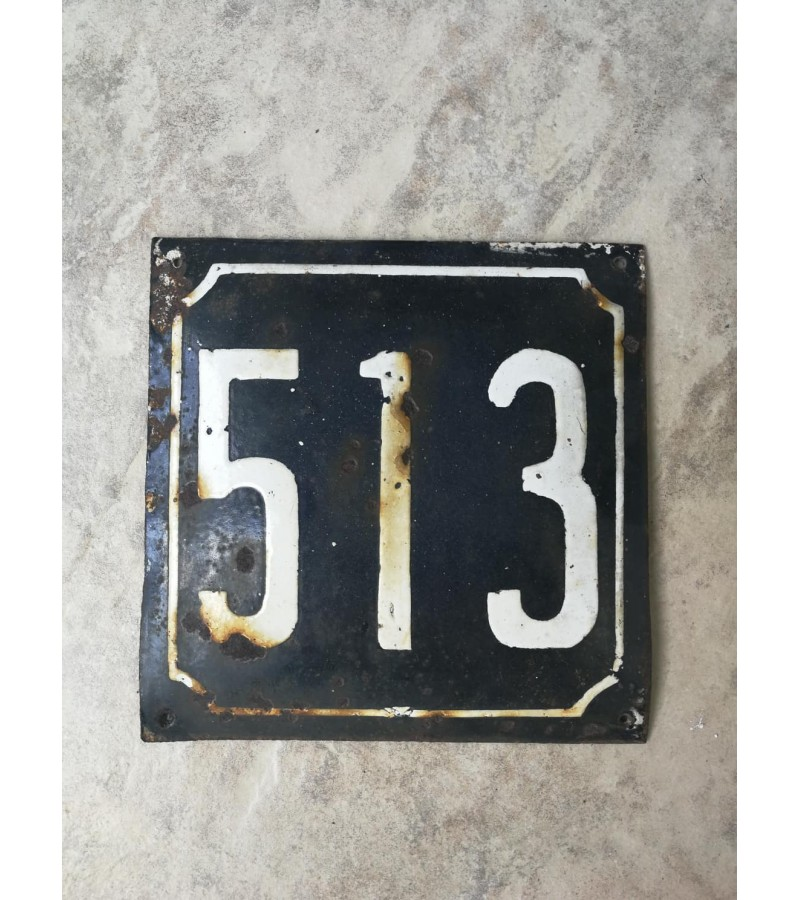 Numeris emaliuotas, storos skardos. Kaina 16