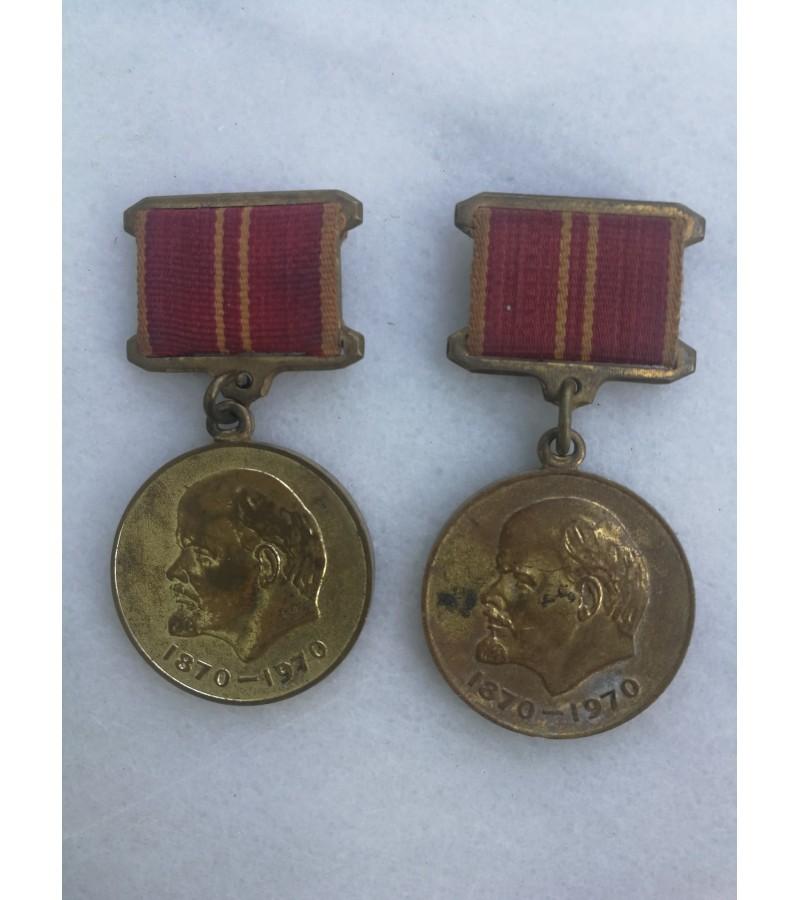 Medaliai Lenin. 2 vnt. Kaina po 4