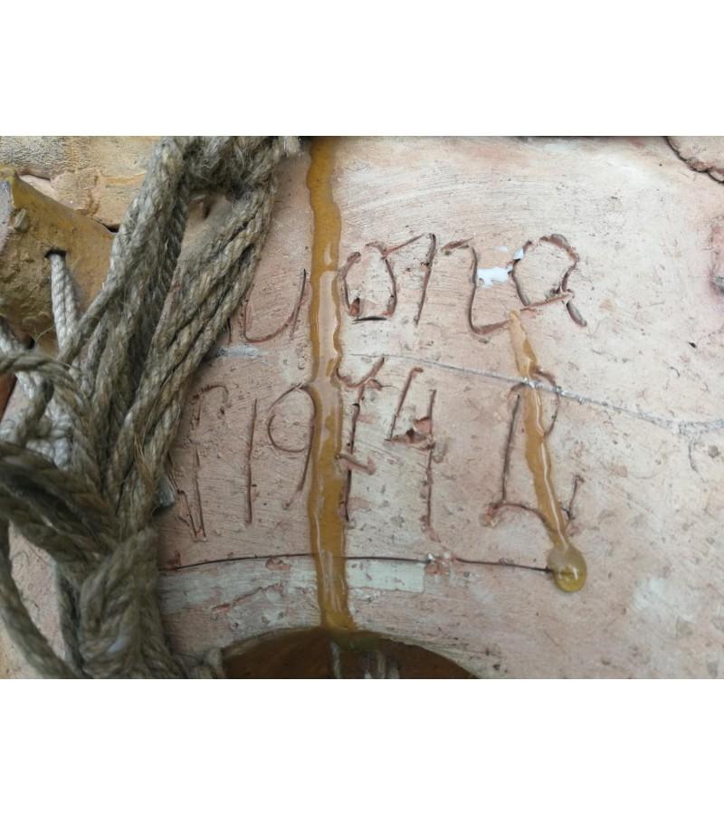 Keramins, glazūruotas reljefinis pano Duona. 1974 m. Nijolė Skolastika Liatukaitė. Didelis ir sunkus. Kaina 355