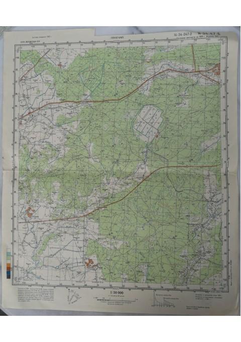 Karinis slaptas topografinis žemėlapis, LEKĖČIAI. Kaina 16