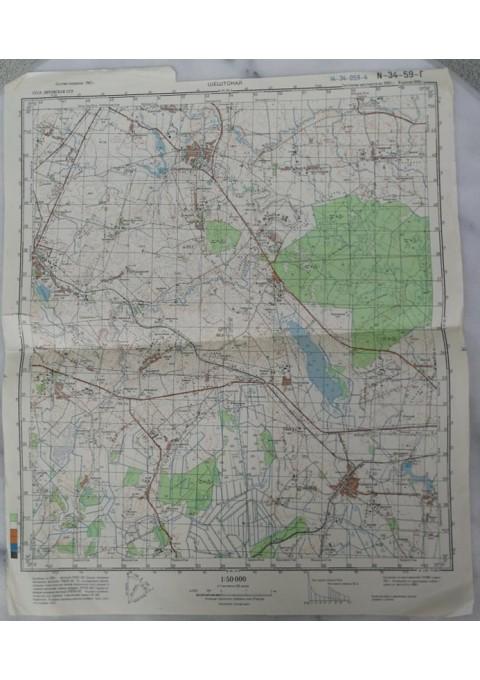 Karinis slaptas topografinis žemėlapis, ŠEŠTOKAI. Kaina 16
