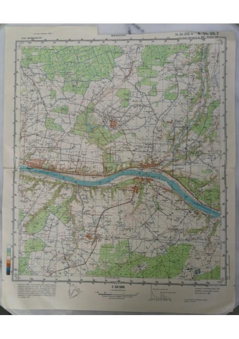 Karinis slaptas topografinis žemėlapis, VELIUONA