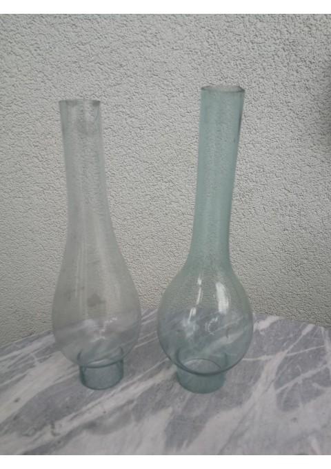 Žibalinės lempos gaubtai, stiklai, nupjauti. 2 vnt. Kaina po 3