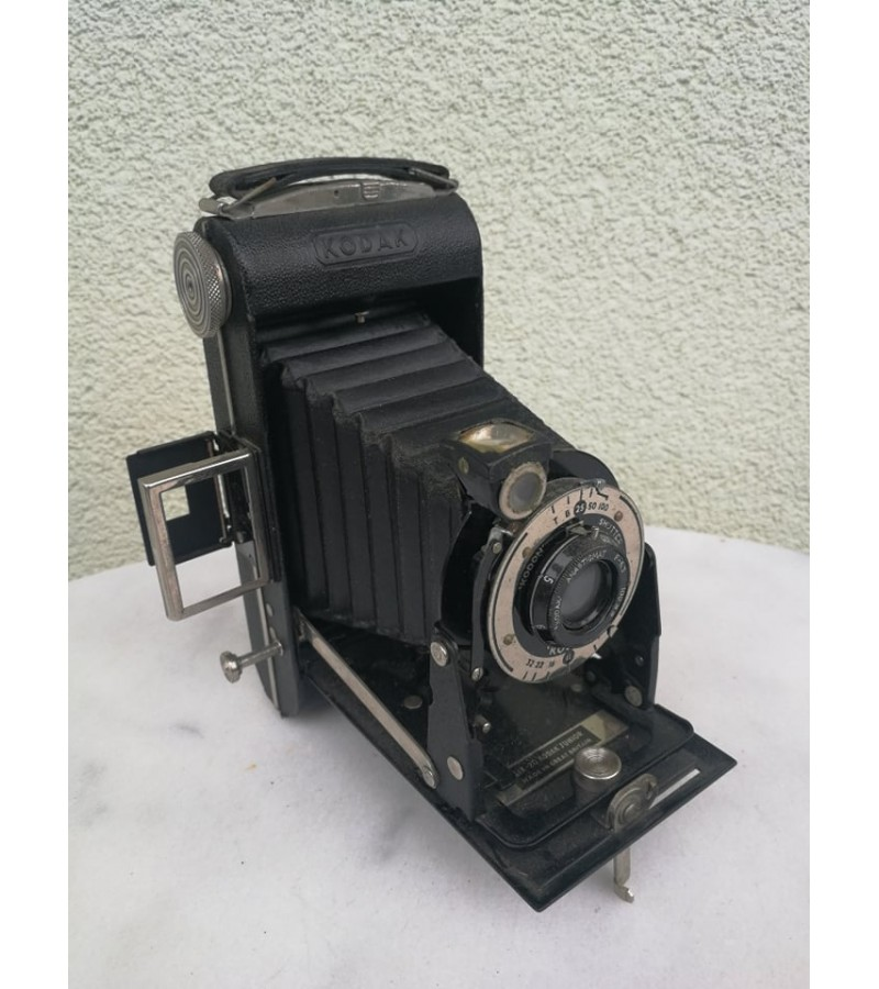 Fotoaparatas dumplinis, antikvarinis Kodak Junior. Kaina 48