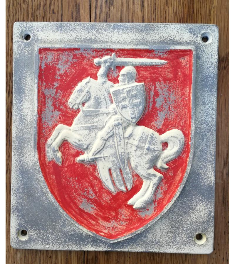 Herbas bareljefas Baltarusijos. Metalas. Kaina 38