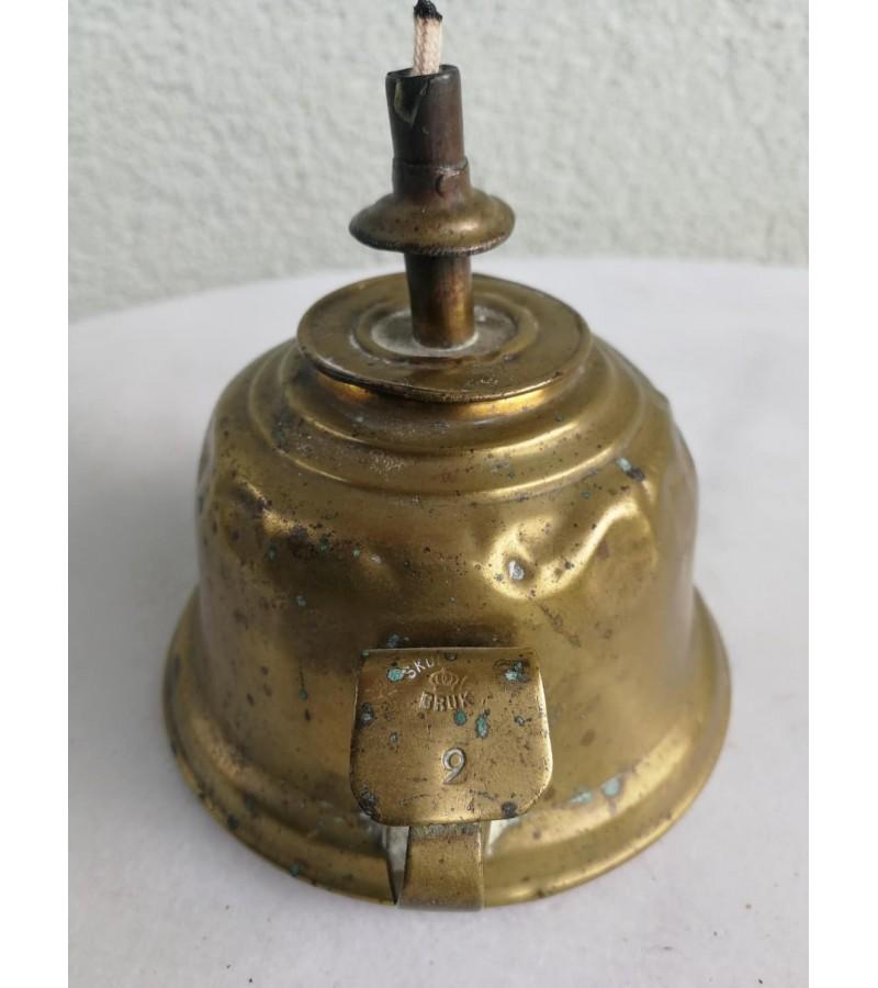 Žibalinė antikvarinė, žalvarinė, nešiojama. Kaina 11
