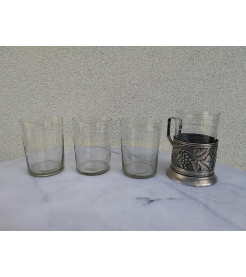Stiklinės tarybinės, plonasienės podstakanikams, stiklinių laikikliams, stiklindėtėms. 30 vnt. Kaina 3 eurai už vnt.