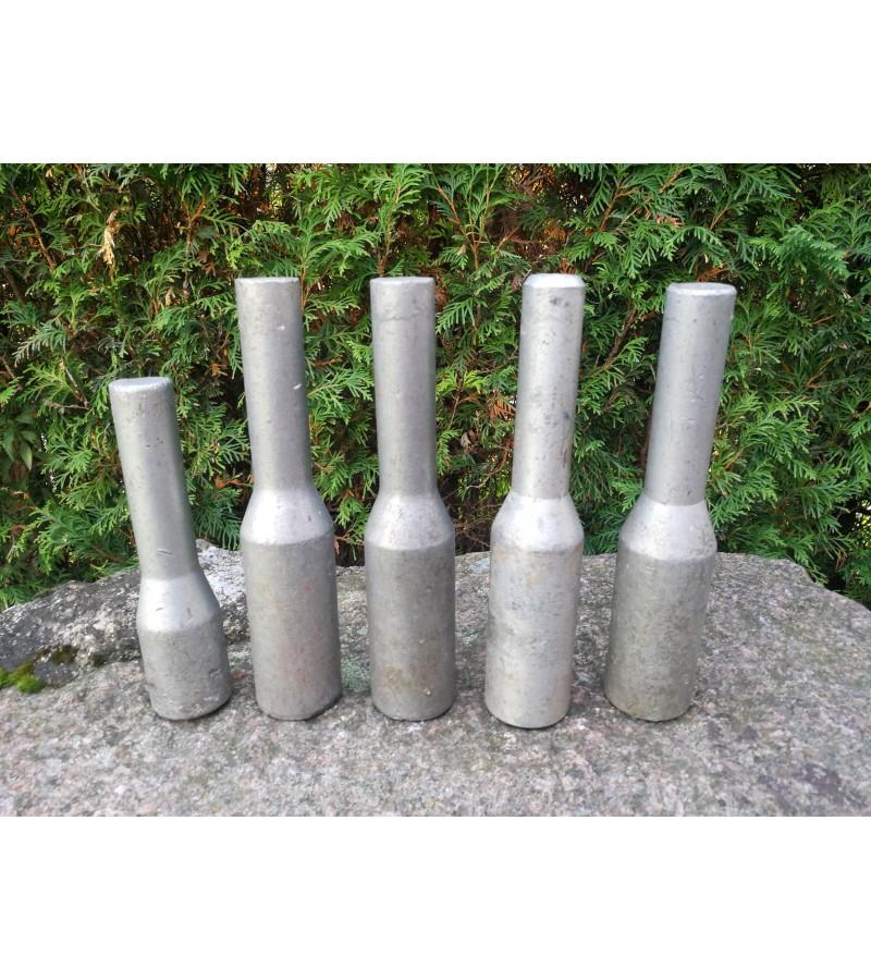 Mokyklinės metalinės granatos, tarybinės. 5 vnt. Kaina po 13