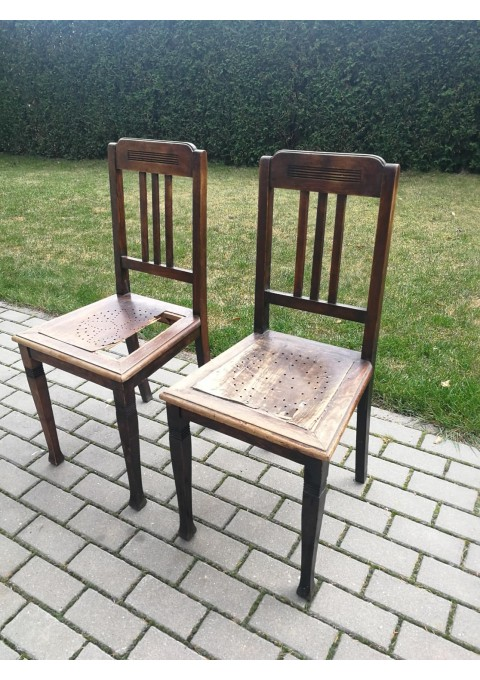 Kėdės ąžuolinės tarpukario Kauno. 2 vnt. Kaina po 23