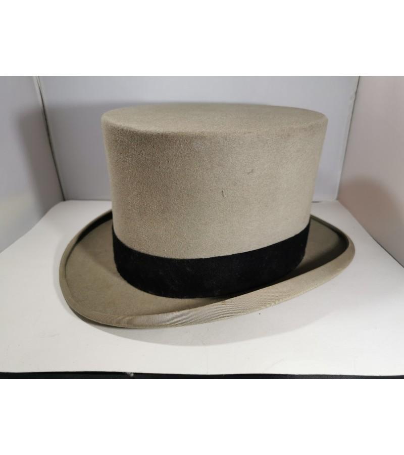 Cilindras-skrybėlė antikvarinė, angliška. Kaina 73