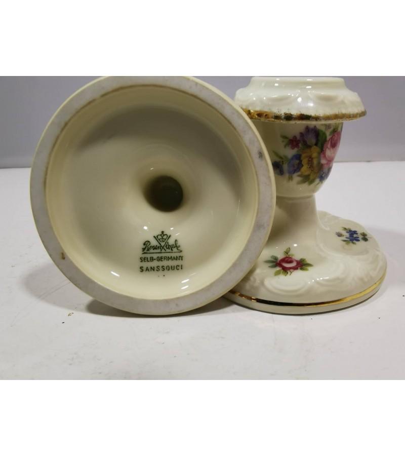 Žvakidės porcelianinės, Rosenthal Selb-Germany Sanssouci. 2 vnt. Kaina po 13