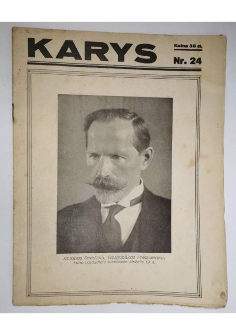 Žurnalas Karys. 1936 m. birželio 10 d. Kaina 8