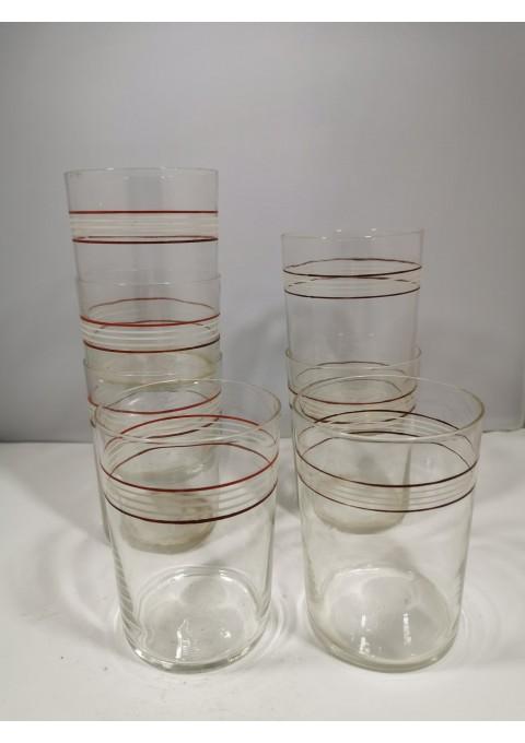 Stiklinės plonasienės podstakanikams, tarybinės. Kaina po 3