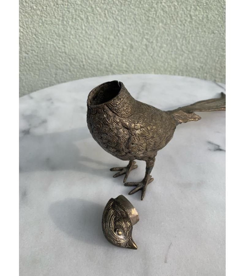 Paukštis bronzinis-dėžutė. Kaina 32