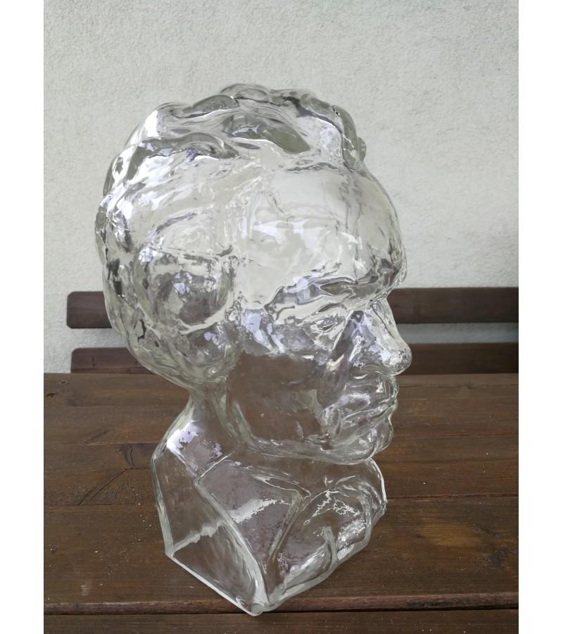 Stiklinis Mocarto biustas, galva. Kaina 52