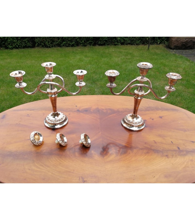Žvakidės antikvarinės, pora. Nuimamais žvakių dėklais. Kaina 72 uz abi.