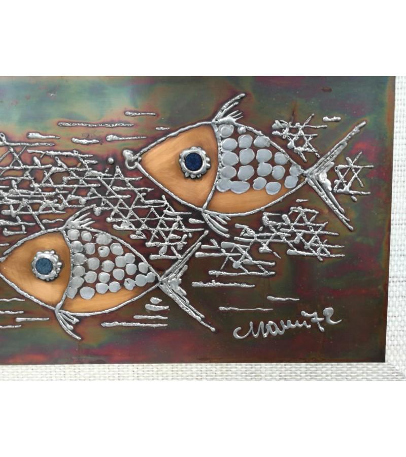 Paveikslas varinis Žuvys, 1972 m. Kaina 42