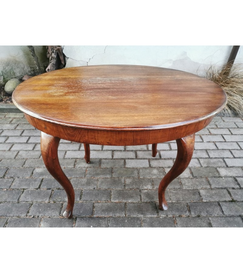 Stalas ovalus, antikvarinis. Kaina 112